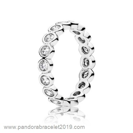 Magasins Pandora Anillos Pandora Apilable Brillante Apilable Clear Cz