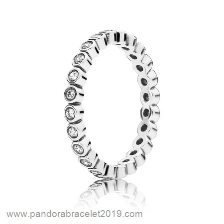 Magasins Pandora Anillos Pandora Apilable Pequeno Brillante Apilable Clear Cz