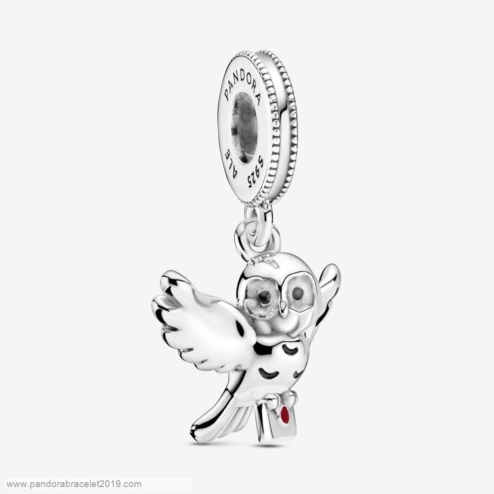 Magasins Pandora Harry Potter, Hedwig Owl Dangle Encanto