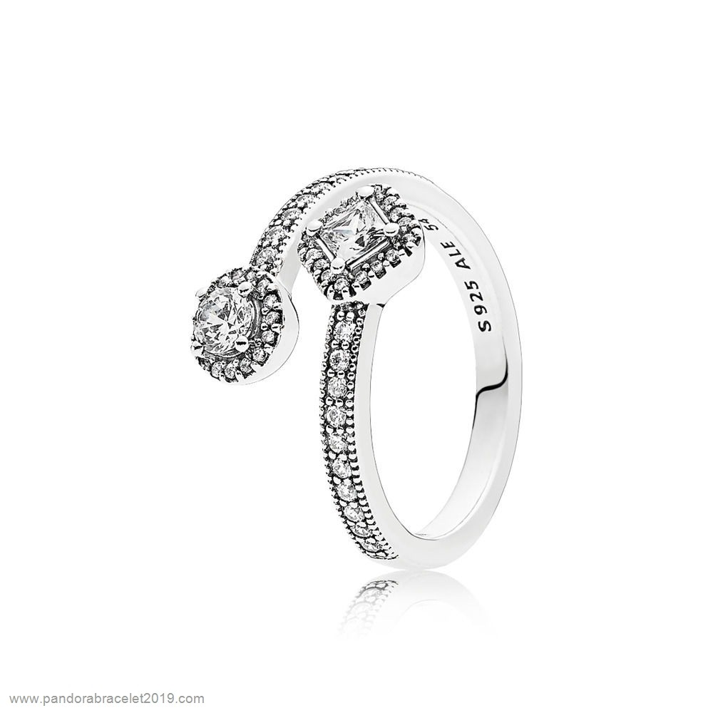 Magasins Pandora Pandora Intemporal Elegancia Abstract Elegancia Anillos Clear Cz