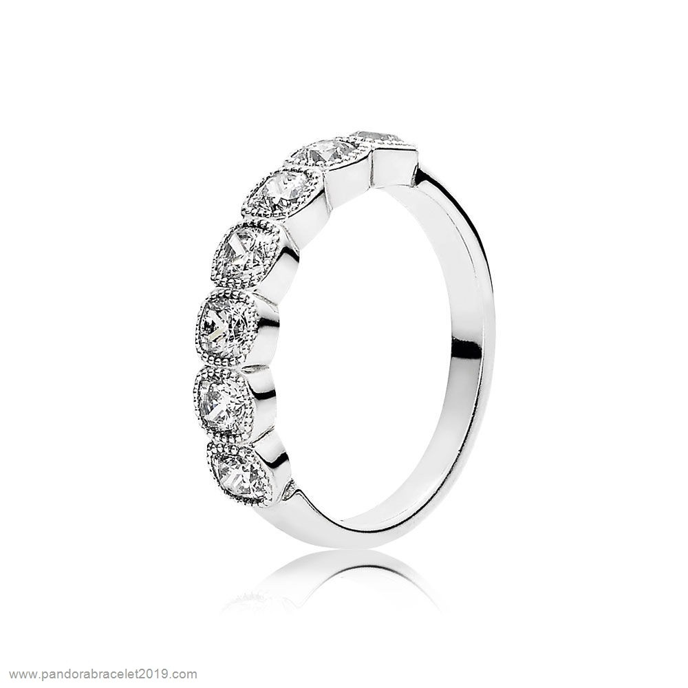 Magasins Pandora Pandora Intemporal Elegancia Todasuring Cushion Anillos Clear Cz
