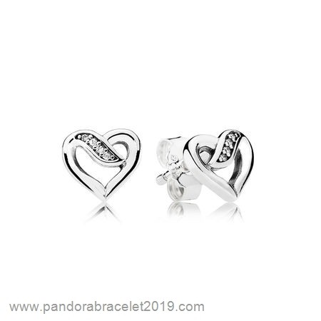 Magasins Pandora Pendientes Pandora Pendientes Ribbons Of Amor Clear Cz