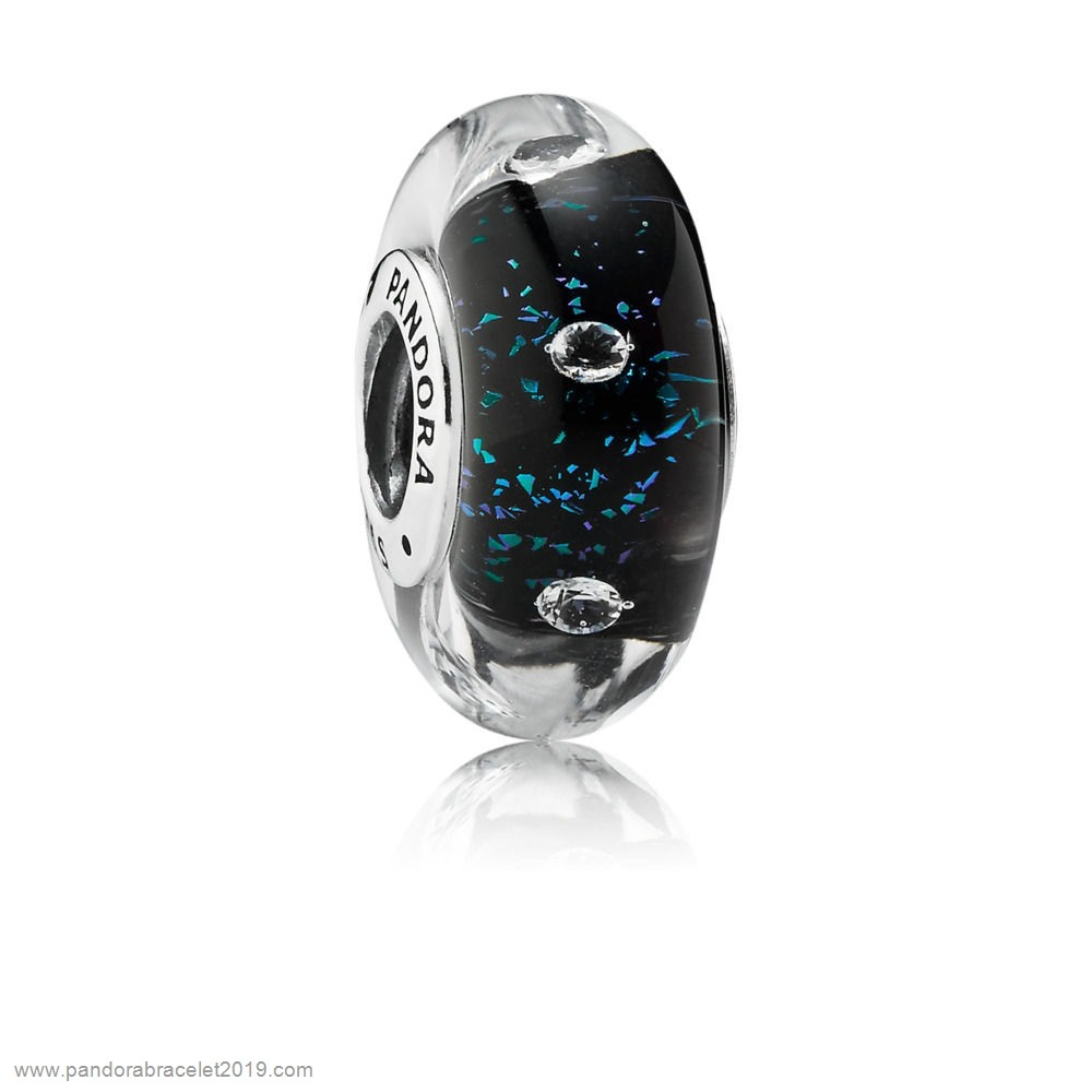 Magasins Pandora Midnight Blue Fizzle Murano Charm